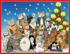 """Christmas Cat Band"" by Gisela Buomberger"