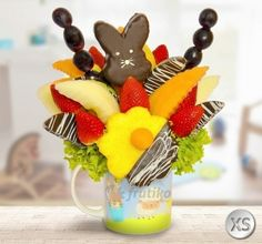 Frutiko Easter Bunny flower is great decoration idea for Easter Table http://www.frutiko.cz/en/easter-bunny