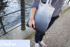 DIY: ombre bag