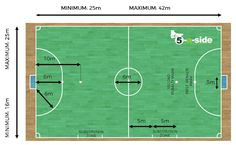 Futsal Court Dimensions (non-international matches) Football Pitch, Football Soccer, Futsal Court, Indoor Soccer Field, Soccer Academy, Badminton Court, Activity Room, Sports Complex, Play Soccer