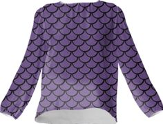 Mermaid Amethyst Silk Top - Available Here: http://printallover.me/collections/sondersky/products/0000000p-mermaid-amethyst-6
