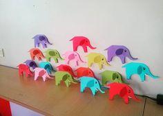 Üç boyutlu fil sanat etkinliği Elephant craft