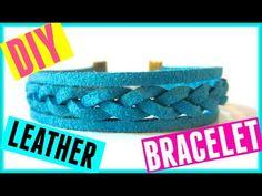 DIY Braided Leather Bracelet - YouTube Videotutorial