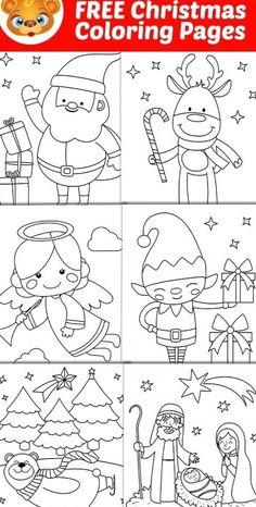 Free Printable Christmas Cards, Christmas Cards To Make, Christmas Colors, Christmas Cards Handmade Kids, Christmas Activities For Kids, Preschool Christmas, Christmas Games, Christmas Drawings For Kids, Christmas Printable Activities