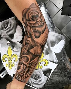 52 Impressive Arm Tattoo Designs For Men And Women; arm tattoos for women; arm tattoos for guys; arm tattoos for women forearm; arm tattoos for women upper Arm Tattoos For Women Forearm, Rose Tattoos For Men, Half Sleeve Tattoos For Guys, Dove Tattoos, Forarm Tattoos, Forearm Sleeve Tattoos, Tattoos Arm Mann, Tattoo Sleeve Designs, Tattoo Designs Men