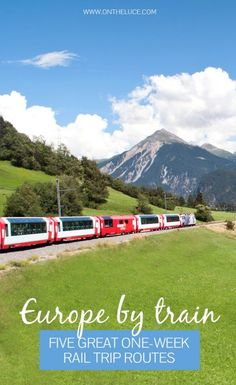 Europe by train: Five great one-week rail trip routes: You don't need months to spare to see Europe by train five of the best mini European rail adventures with routes in Northern and Eastern Europe Italy Spain & Portugal and Scandinavia. Backpacking Europe, Europe Travel Tips, Places To Travel, Places To Go, Travel Europe By Train, Travel Eastern Europe, Europe Packing, Norway Travel, Travel Trip