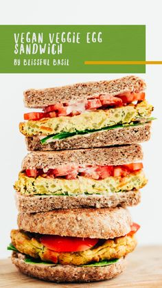 Nasoya Extra Firm Tofu is the perfect egg substitute for an easy to make vegan breakfast sandwich. Tofu Recipes, Snack Recipes, Cooking Recipes, Healthy Recipes, Vegan Breakfast, Breakfast Ideas, Breakfast Recipes, Vegan Lunches, Vegan Foods