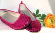 GLITTER BALLET FLATS  Party Shoes Wedding by LauraGrishamDesigns, $55.00