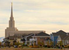 Oquirrh Mountain LDS Temple in Daybreak Utah by Photo Dean