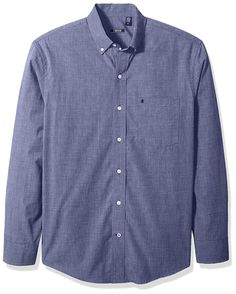 e87cb504d IZOD Men s CLEARANCE Button Down Long Sleeve Stretch Performance Solid Shirt