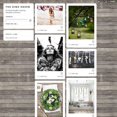 The Kind Haven uses Style Hatch Premium Tumblr theme Inspire Well