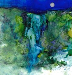 Dreamscape No. 537, 5x5, Alcohol Inks, Yupo Dreamscaping With June Rollins®