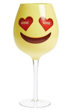 DCI 'Emoji' Oversized Wine Glass - perfect for any party or white elephant gift!