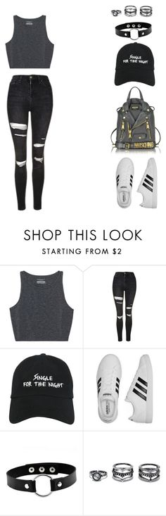 """""""F.U {little mix}"""" by balsam01 ❤ liked on Polyvore featuring Topshop, Nasaseasons, adidas, LULUS and Moschino"""