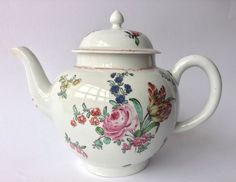 Antique 18th Century Liverpool Porcelain Christan s Teapot C1770-Not Bow/ Derby