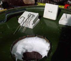 keramische plaat en kanthal draad voor bevestiging