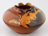 Shirayamadani Rookwood Vase Rookwood Pottery, Beautiful Birds, Stoneware, Decorative Bowls, Carving, Clay, Clays, Wood Carvings, Sculptures