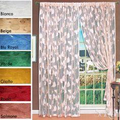 Tenda a Filo Ricamo Farfalle 2 Pannelli 150x280 cm Arredo Casa Divisorio SARANI