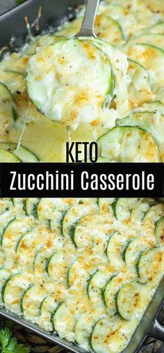 Zucchini Casserole, Vegetable Casserole, Keto Casserole, Casserole Recipes, Vegetable Bake, Vegetable Meals, Hamburger Casserole, Chicken Casserole, Low Carb Keto