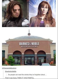 Barnes and noble Marvel Memes, Marvel Dc, Fandom Crossover, Fandoms, Bucky Barnes, Dr Who, Superwholock, Marvel Cinematic Universe, Tardis