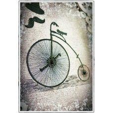 Mixed media Canvas - Vintage bicycle