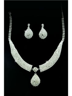 Fantastic Clear Crystals Wedding Bridal Jewelry Set-(Including Necklace,earring) PW8829(20372)