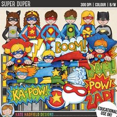 Superhero Clip Art f