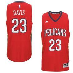 New Orleans Pelicans  23 Anthony Davis 2014-15 New Swingman Alternate Red  Jersey Cheap 43aae95e7