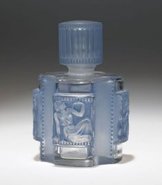 1942 R. Lalique Helene Figural Perfume Bottle with All Three Original Elements
