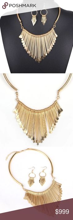 Coming Soon ! Women Necklace Alloy Statement Necklaces Pendants Tassel Jewelry! Earring and necklace set! Absolutely gorgeous! Jewelry Necklaces