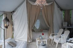 Just Beautiful Things: Tent Decorating with the Barn House Boys