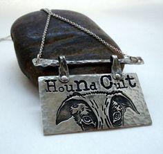 Greyhound - Greyhound Jewelry - Hound Cult - Greyhound Necklace - Fine Silver - Sterling Silver - Copper