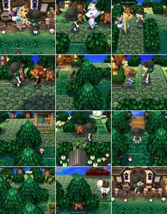 Beautiful forest theme for Animal Crossing New Leaf. Definitely the inspiration for my second town.