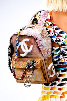 Chanel's Canvas Bricolage Backpack, Inspired by Broke Art Students, Costs $3,400 - theFashionSpot
