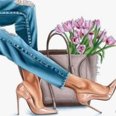 Fashion illustration - fashion art print - gifts for her - floral art - fashion artwork - best frien Fashion Artwork, Fashion Design Drawings, Fashion Wall Art, Fashion Sketches, Girly Drawings, Black Women Art, Shoe Art, Designs To Draw, Female Art