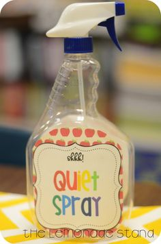 Classroom Management Tools: Quiet Spray!!!