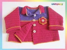 Häkelanleitung: Weste für Kleinkind (12 – 18 Monate) mit Häkelblume Diana, Sweaters, Knitting, Google, Fashion, Crochet Baby, 18 Months, Flower Crochet, Crochet Clothes
