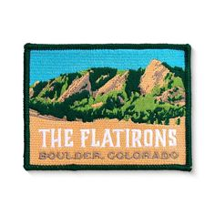 - 4 x 3 inches x cm)- embroidered using 6 vibrant thread colors- Merrowed border to prevent loose threads- Iron on backing Boulder Flatirons, Nepal Mount Everest, Computer Cover, Rock Climbing Gear, Hang Gliding, Bungee Jumping, Flat Iron, Bouldering, Patches