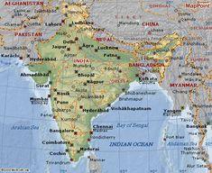 india map major cities region
