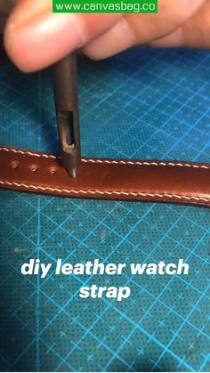 Diy Leather Projects, Leather Craft Tools, Diy Leather Watch Strap, Leather Working Tools, Watches For Men, Wallet, Crafts, Handmade, Leather Tote Handbags
