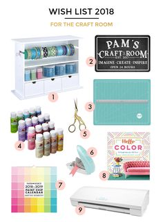 A HOLIDAY WISH LIST FOR THE CRAFT ROOM Paint Chip Calendar, Embroidery Scissors, Think On, Chalkboard Signs, Holiday Wishes, Paint Chips, Happy Shopping, Christmas Crafts, Cool Stuff