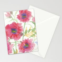 Late Summer Reds Stationery Cards by Edith Jackson-Designs | Society6