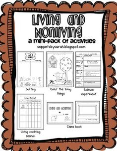 Living and Nonliving Mini Unit - free!