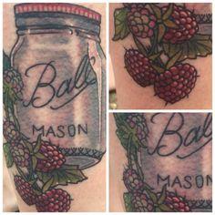 3 Shades of Black | #raspberry #tattoo #masonjar #balljar...