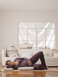 http://www.when-does-morning-sickness-start.com/working-out-while-pregnant.html Physical workouts while carrying a child. Third Trimester  - Clamming