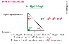 2d Shapes: A right triangle