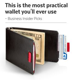 """""""Distil Union is the company behind what may very well be the slimmest, most practical wallet on the market."""" – Business Insider Picks http://www.businessinsider.com/distil-union-wally-bifold-wallet-2015-6"""