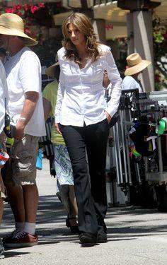 Stana Katic on the Set of Castle Season 5