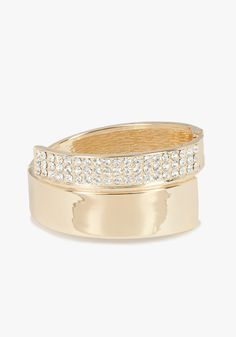 Metal & Crystal Geometric Bracelet #bebe #vday . Wear this with BeBe's cutout lace twofer bandage dress and you're good to go!