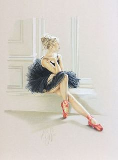 Kay Boyce - Artists - Buckingham Fine Art Publishers Ltd Ballerina Kunst, Ballerina Painting, Ballet Drawings, Dancing Drawings, Dance Paintings, Cross Paintings, Ballet Art, Ballet Dancers, Ballerinas